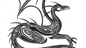 Drawings Of Beautiful Dragons Tribal Dragon by L Sway On Deviantart Dragons Black White