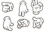 Drawings Of Cartoon Hands Cartoon Hands Making Different Gestures Vector Clip Art