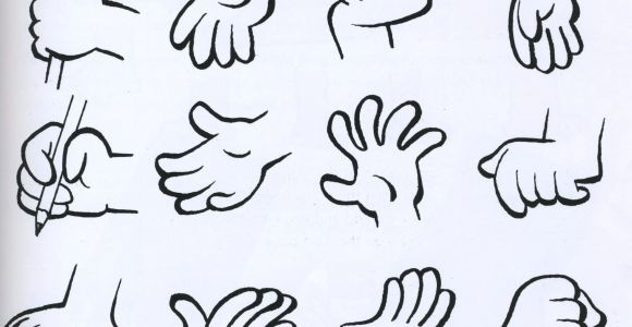 Drawings Of Cartoon Hands Hand Examples Reference Drawings Cartoon Character Illustration