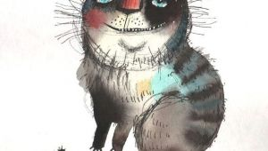 Drawings Of Cat Eyes the Cat with Beautiful Eyes original Painting by Ozozo Art Cat 1