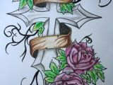 Drawings Of Crosses with Roses Tattoos Of Roses with Thorns Rose and Thorn Tattoos Cool Tattoos
