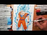 Drawings Of Dragons Full Body Drawing Goku Super Saiyan Blue Full Body Yair Sasson Art