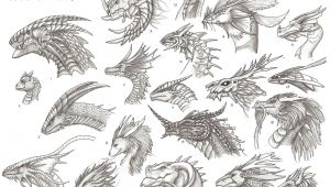 Drawings Of Dragons Heads Head Reference Image Dragon Heads Reference Sheet by Archir On