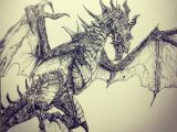 Drawings Of Dragons In Pencil Pencil Dragon Drawings Skyrim Dragon Drawings In Pencil Dragon