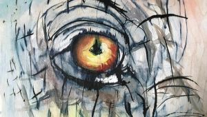 Drawings Of Elephant Eyes Elephant Eye original Painting Watercolor Wood Framed Ink