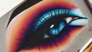 Drawings Of Eyes Colored Hello Everyone Here S This Colorful Eye I Drew This Drawing is
