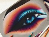 Drawings Of Eyes Coloured Hello Everyone Here S This Colorful Eye I Drew This Drawing is