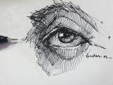 Drawings Of Eyes with Pen Eyedrawing Illustration Portre Dessin Pen Artsy Study Portrait