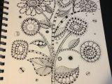 Drawings Of Flower Beds Zentangle Mod Flower Garden My Coloring Doodles Pinterest