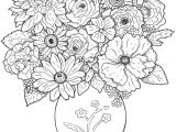 Drawings Of Flower Bouquets A Bouquet Of Flowers New Vases Flower Vase Coloring Page Pages