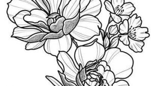 Drawings Of Flower Bouquets Floral Tattoo Design Drawing Beautifu Simple Flowers Body Art