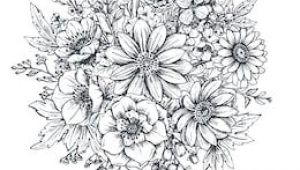 Drawings Of Flower Composition Floral Composition Bouquet with Hand Drawn Spring Flowers and