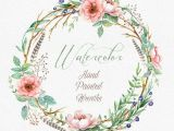 Drawings Of Flower Wreaths Art Drawing Boho Watercolour Flower Wreaths with Floral Elements and