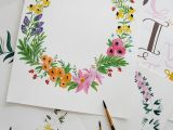 Drawings Of Flower Wreaths Wildflowers Blog Studio Snaps Acrylics Used Here but Simple to Make