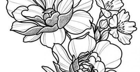 Drawings Of Flowers and Hearts Easy Floral Tattoo Design Drawing Beautifu Simple Flowers Body Art