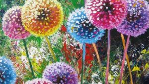 Drawings Of Flowers for Sale Dandelion Flower Painting Acrylic Canvases From Artists for Sale