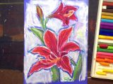 Drawings Of Flowers with Oil Pastels Use Oil Pastels to Create A Vibrant Drawing Of An Amaryllis Flower