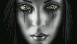 Drawings Of Green Eyes Crying Green Eyes Anne Stokes B Fantasyz In 2019 Pinterest