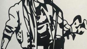 Drawings Of Guns N Roses Guns N Roses Inspired Axl Singing Decal by Leslisdesigns On Etsy