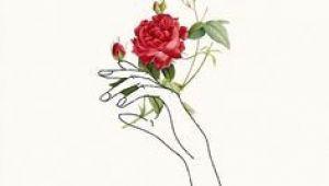 Drawings Of Hands Holding Roses Holding Flowers Tattoos Piercings Art Drawings Line Art