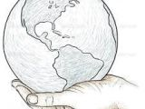 Drawings Of Hands Holding the Earth Inspiring Earth Sketch Drawing Template Images Travel the World