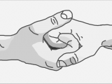 Drawings Of Hands Step by Step 4 Ways to Draw A Couple Holding Hands Wikihow