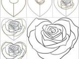 Drawings Of Hearts and Roses Step by Step 11 Best Learning to Draw Images