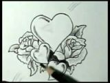 Drawings Of Hearts and Roses Step by Step How to Draw Hearts with Roses Vines with Easy Step by Step