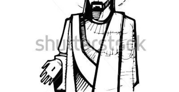 Drawings Of Jesus Hands Hand Drawn Vector Illustration or Drawing Of Jesus Christ at His