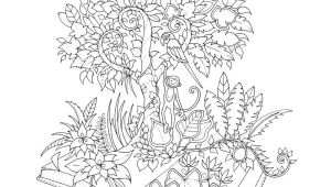 Drawings Of Jungle Flowers Amazon Com Magical Jungle An Inky Expedition and Coloring Book for