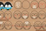Drawings Of Kawaii Eyes How to Draw Cute Kawaii Chibi Cartoon Penguins In A Scarf for