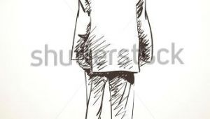 Drawings Of Men S Hands Sketch Of Standing Man In Suit From Back Hand Drawn Illustration