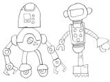 Drawings Of Robot Hands Burr Elementary School Art with Mr Post Robot Drawings