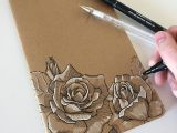 Drawings Of Roses In Pen I Think I Prefer Drawing On My Notebooks rather than In them Art