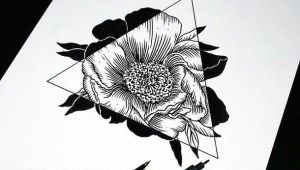Drawings Of Roses On Fire Art Drawing Flowers Hipster Sketch Triangle Amazing