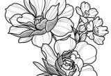 Drawings Of Roses to Print Floral Tattoo Design Drawing Beautifu Simple Flowers Body Art