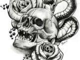 Drawings Of Skulls with Roses 74 Best Skulls N Roses Images Skull Tattoos Drawings Mexican Skulls