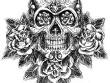 Drawings Of Skulls with Roses Skull and Roses Sketch Vector Tattoo Ideas Pinterest Sugar