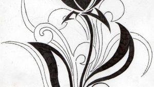 Drawings Of Tribal Flowers Flower Tribal Tulip by Aglinskas Srdce Tulip Tattoo Tattoos