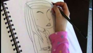 Easy 8 Year Old Drawings 8 Year Old Girl Free Hands original Picture Of Young Woman Youtube