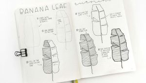 Easy Banana Drawing How to Draw Banana Leaf Bullet Journal Leaves Bullet