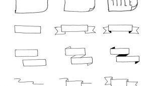 Easy Banner Drawing Easy Bullet Journal Headers Banners 15 Tutorials Anyone