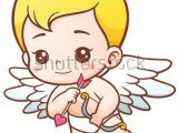 Easy Cupid Drawing Vector Illustration Of Cute Cupid with Arrows and Onion