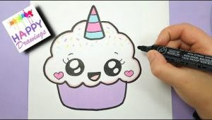 Easy Cute Unicorn Drawings 228 Kawaii Einhorn Malen How to Draw Cute Unicorn
