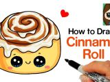 Easy Dessert Drawings How to Draw A Cinnamon Roll Cute and Easy Cute Drawings