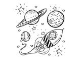 Easy Drawing Backgrounds Doodle Space Planets Rocket Ship Stars Explore Vector