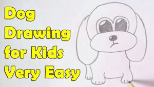 Easy Drawing for 10 Year Olds How to Draw A Dog for Kids