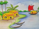 Easy Drawing for Class 12 Village Scenery Drawing at Getdrawings Com Free for Personal Use