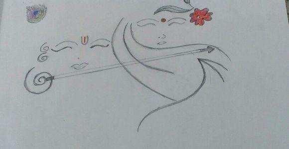 Easy Drawing God Easy Pencil Sketching Of Radha Krishna so Simple N Just Amazing