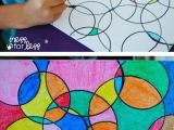 Easy Drawing Ideas for 10 Year Olds Kids Art Projects Watercolor Circle Art the Results are Always